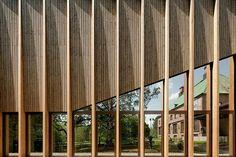 Фасад дерево,металл, стекло