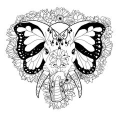 tribal elephant coloring pages for adults - Google Search