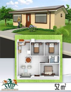 Small Simple Home Design Plans Home Design Plan With 3 Bedrooms Small House Design Home Fabulous Simple House Design Plans D Bedrooms Collection Designs Simple Enough Good Proj. Sims House Plans, Small House Floor Plans, House Layout Plans, Dream House Plans, Modern House Plans, House Layouts, Simple House Design, Tiny House Design, Three Bedroom House Plan