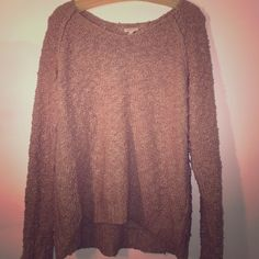 Oversized Sweater This tan over sized sweater is one of the most practical, comfortable sweater that I have ever had! Wear religiously for the rest of the winter season and be excited to whip it out next year! Great buy! Sonoma Sweaters V-Necks