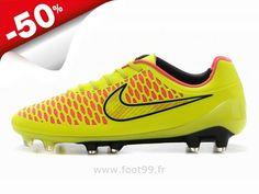 801400f10bc Chaussures de Foot 2014 Nike Magista Opus FG Jaune Or Rose Magista Pas Cher
