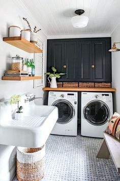 Below are the Farmhouse Laundry Room Storage Decoration Ideas. This article about Farmhouse Laundry Room Storage Decoration Ideas was posted White Laundry Rooms, Farmhouse Laundry Room, Small Laundry, Basement Laundry, Laundry Room Sink, Laundry Closet, Utility Closet, Laundry Area, Laundry Room Countertop
