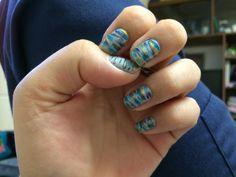 Nail art. Blended