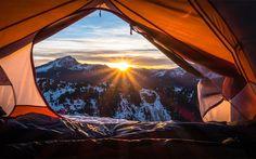 Потрясающие фотографии сделанные из палатки (28фото)