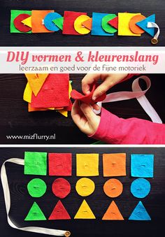 DIY vormen en kleuren knoopslang - MizFlurry Brain Gym, Busy Bags, Play To Learn, Invite Your Friends, Early Learning, Easy Peasy, Fine Motor, Crafts For Kids, Stress