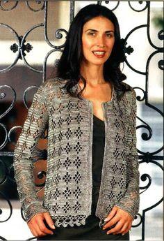 Glittery Like Jacket free crochet graph pattern