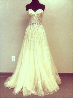 """Gold Tulle Sweetheart Dress"" (This is beautiful!)"