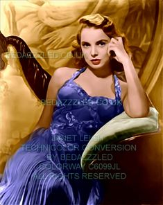 JANET LEIGH TECHNICOLOR CONVERSION/RESTORATION BY BEDAZZZLED FROM A SMALL THUMBNAIL IMAGE