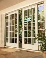 Love the look of these Andersen French Sliding Patio Doors. Would be a great entrance into the sunroom...the sliding doors would help with furniture placement in each room