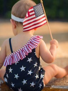 4th of July Baby Shoot with Stars and Stripes #july4 #fourth #independence #julyfourth