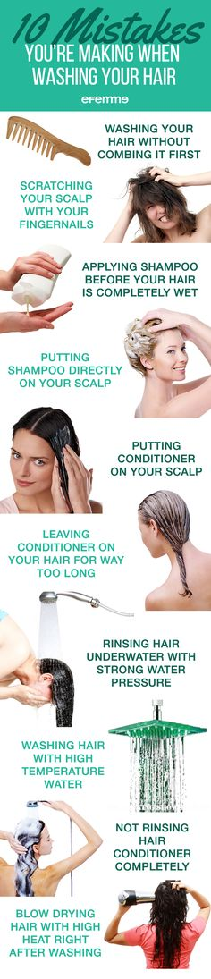 Washing your hair should be simple right? All it really takes is applying shampoo and conditioner. However, there are certain ways that even these simple steps can do some serious damage to your gorgeous locks. Here are 10 mistakes you're making when washing your hair. #blog #blogger #haircut #hair #hairstyle #hairstyleideas #haircolor #haircut #hairfashion #haircare #hairdo #hairdesign #hairenvy #hairhowto #hairideas #hairinspiration #hairoftheday #hairproducts #hairsandstyles #hairtips