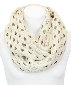 Another great find on #zulily! Khaki Open-Stitch Infinity Scarf #zulilyfinds
