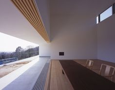 View of Minimalist Interior and Sliding Door Channels