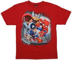 Big Three - Marvel Superhero Squad Youth T-shirt: Youth Medium  10-12  - RedFrom #Marvel Price: $15.99 Availability: Usually ships in 1-2 business daysShips From #and sold by MyTeeSpot