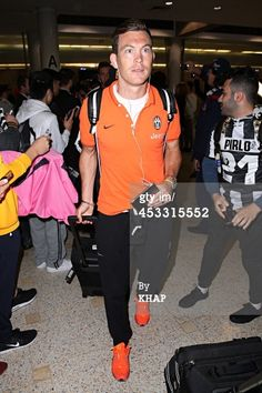 Stephan Lichtsteiner of Italian soccer team Juventus arrives at...