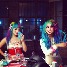 Shrinkle and Amelia Dinmore shooting for Sugarpill at Beautylish headquarters