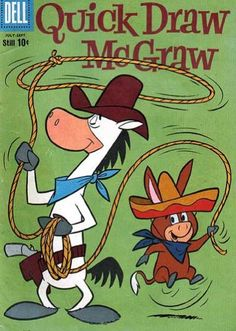 Quick Draw McGraw and his sidekick Baba-Louie