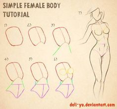 How to draw a woman?