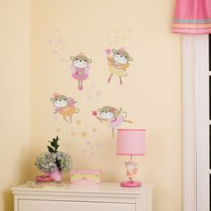 Kids Line Fairy Monkey Star Wall Decal