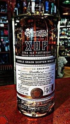 Caledonian 40 Years Old - The Single Grain Scotch Whisky from Douglas Laing's, XOP Serie, from one Single Cask!  #whisky #40 #singlegrain #scotch #caledonian #distillery #singlecask #limited #douglaslaing #xop #serie