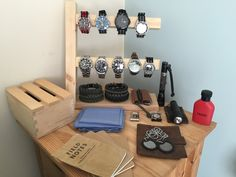 Homemade watch Stand to tidy EDC items......