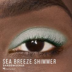 Limited Edition Sea Breeze Shimmer ShadowSense is part of the California Dreamin' Collection.  It is described as a lighter-than-air mint color with a shimmer texture.  Feel like you are on a vacation whenever you apply this beautiful color. #summer #californiadreamin #shadowsense #senegence