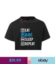 Tops, Shirts & T-Shirts Eat Ride Sleep Repeat T-Shirt Kids Boys Custom Bmx Tricks Bike Bicycle Skate #ebay #Fashion