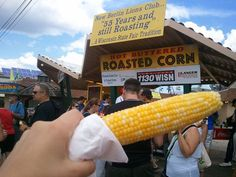 What's hot, buttery and the perfect combination of salty and sweet? A roasted corn-on-the-cob from New Berlin Corn Roast, of course. Mmmm...  #wistatefair #food #fair