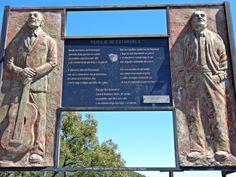 """Monumento en recuerdo a la canción """"Paisaje de Catamarca"""". Ubicada en el primer mirador de la cuesta del Portezuelo."""