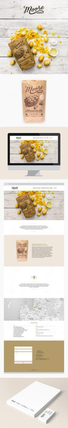 Moore chips -Branding, Packaging & Web - Agris Bobrovs
