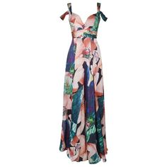 FOREVER UNIQUE Billie Maxi Dress ($350) ❤ liked on Polyvore featuring dresses, chiffon maxi dress, draped maxi dress, white maxi dress, white off shoulder dress and off the shoulder dress