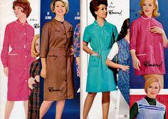 Nylons, Blouse Nylon, Bleu Marine, Overalls, Shirt Dress, Female, Sexy, Shirts, Clothes
