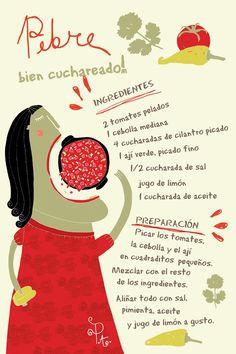 Pebre Cuchareadooo Cositas Ricas Ilustradas por Pati Aguilera