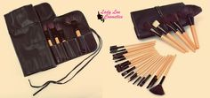 The Makeup Brush Set You NEED to own! 24 Piece Deluxe Professional Wood Brush Set FREE Shipping! FREE Matching Antibacterial case! AFFORDABLE! Learn More at; http://ladyloucosmetics.com/products/24-piece-deluxe-professional-wood-brush-set