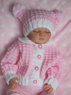 Knitting Patterns – All Items Page 2 – Baby Dream Knits – Knitting Baby İdeas. Baby Cardigan Knitting Pattern Free, Knitting Baby Girl, Kids Knitting Patterns, Baby Sweater Patterns, Knit Baby Sweaters, Baby Patterns, Knitting Dolls Clothes, Knitted Baby Clothes, Baby Doll Clothes