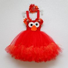 Elmo inspired Tutu Dress by Aieon on Etsy Elmo Birthday, Little Girl Birthday, Birthday Ideas, Baby Costumes, Halloween Costumes, Little Girl Dresses, Little Girls, Elmo Party, Party Fun