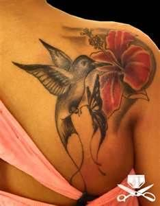 Hibiscus And Hummingbird Tattoo Hautedraws  Free Download
