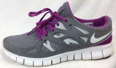Nike Free Run 2 Womens 10 Running Shoes Gray Purple #Nike #RunningCrossTraining