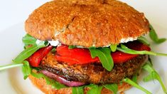 Grilled Portabello Mushroom Burger- Super healthy and great for vegetarian friends.