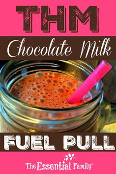 A Rich, Creamy THM Chocolate Milk Recipe suitable for the Trim Healthy Mama eating plan. A Fuel Pull (FP) Drink