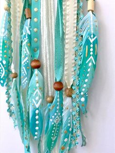 Turquoise Dream Catcher Turquoise and Gold Dreamcatcher Boho