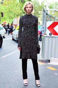 Модная зима. Вязаные платья