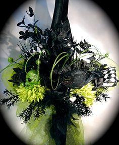 "Truly ""Wicked"" Elpheba's Witch Hat Halloween Costumes OOAK by Marcellefinery, $88.00"
