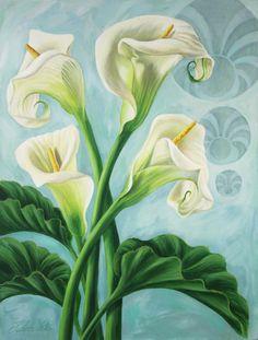 Arum Lilly by Judith Yates Flag Garden Size JYJ0070GF