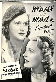 Free 1930's Knitting Pattern - A Beret and a Jaunty Cap