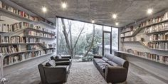 these bookshelves...amazing.  the whole project is, really.  Tea House / Archi-Union Architects