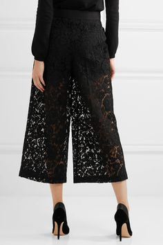 Valentino | Cropped corded guipure lace wide-leg pants | NET-A-PORTER.COM