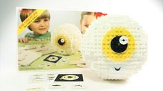 Eye Creature by Invisible Creature. We love our clients. We love Lego. So why not combine the two? For our annual Client Holiday gift this year, we decided to design a custom Eye Creature Lego kit. Edition of 6 sets. 444 pieces. 4 instruction booklets. 8 different mouth combinations -  and a hinged top that allows the owner to store all kinds of fun items.