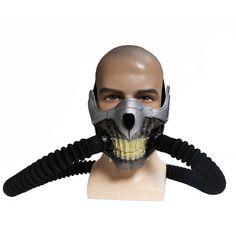 cool Xcoser Mad Joe Max Mask Cosplay PVC Half Face Gas Mask Halloween Prop
