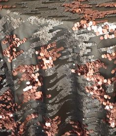 Mixed metals is such a great wedding trend! This Copper and Pewter Sequin Rain linen captures it perfectly.